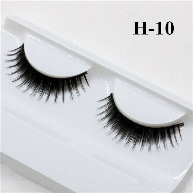 1 Pair False Mink 3D Eyelashes Natural Eyelash Extensions Cruelty Free Mink Lashes Eye Makeup Tools 2