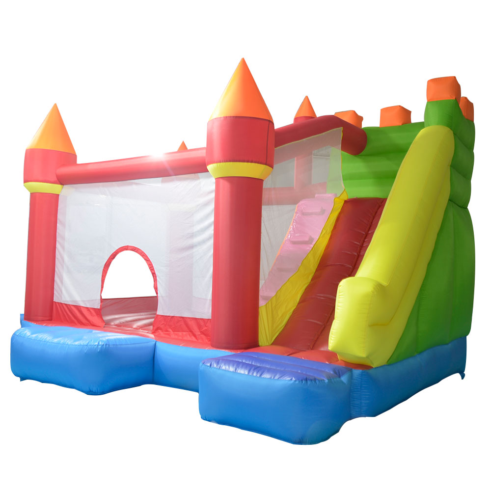 Oxford and PVC Bounce House Inflatable Trampoline Jumping Bouncy Castle Bouncer Jumper with Slide Indoor Playground for Kids