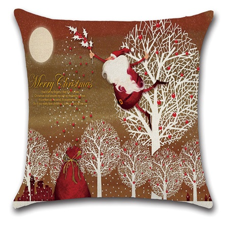 Image 3 - 2pcs Christmas Santa Deer Bulb Tree Socks Cushion Sofa Bedroom Decorative Pillow Cover Cushion Cover Home Sweet Pillow Case-in Cushion Cover from Home & Garden