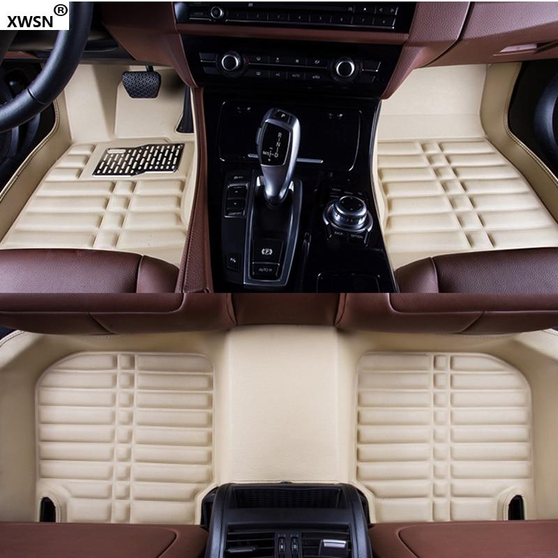 XWSN Custom car floor mats for Honda jazz accord 2003-2017 for honda civic 2006-2017 fit city honda crv2003-2017 accessories ace speed for mugen floor mats car carpet fit for honda integra dc5 dc2 accord cl7 rhd cu2 fa1