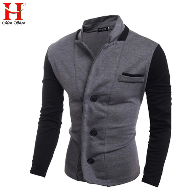 2017 Spring New Men'S Long-Sleeved V-Neck Cardigan Leisure Slim Designer And Business Men Suit Jacket Blazer Masculino M ~ XXL