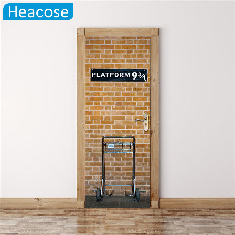 Harry potter wall sticker diy mural living room home decor for Decoration porte interieure poster sticker