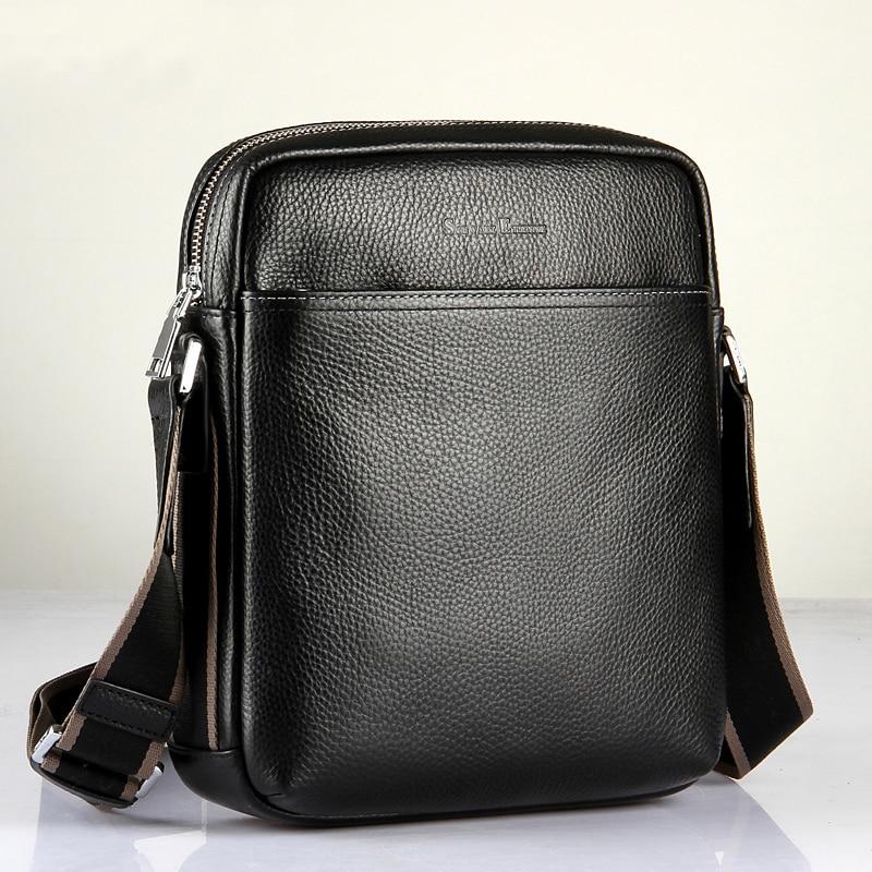 Leder Ankunft Tasche Business Männer Neue Für Black Schulter Verkauf Männlichen Mode Qualität Rindsleder Hohe Heißer Tasche Umhängetasche zwfxfd