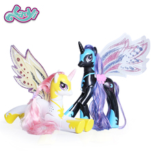 My little horses Magic Rainbow ponies toys one piece Action Anime 2 color style Unicorn Princess horse model For Children Dolls
