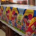 Lovely 108cm disposable Birthday tablecloth Cartoon Doc mcstuffins kids happy birthday party plastic tablecover supplies