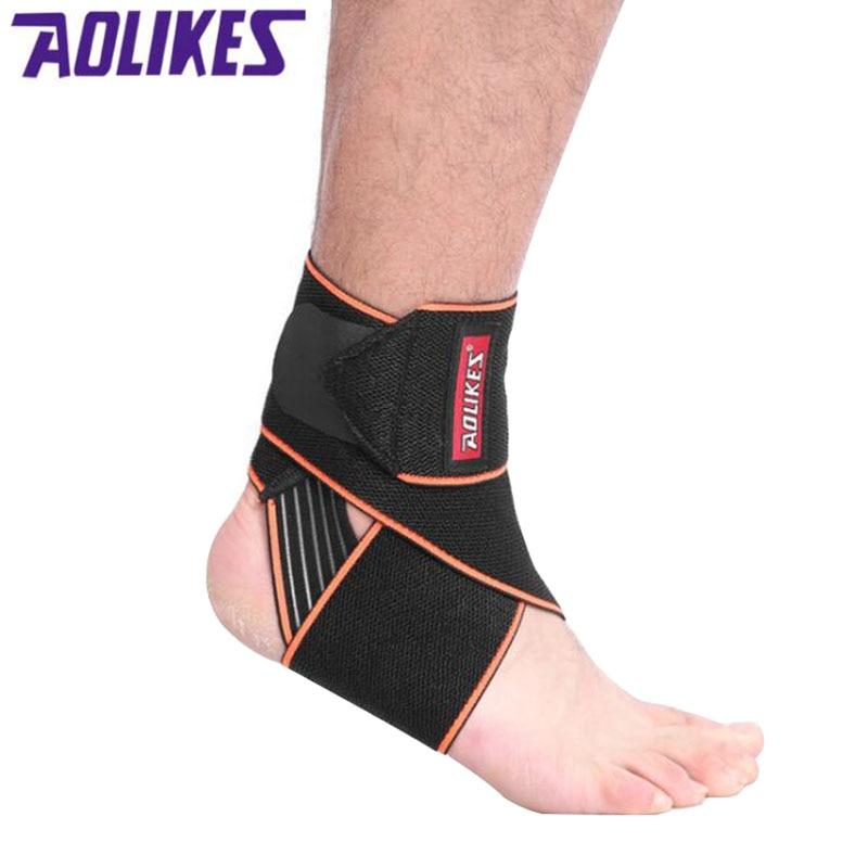 Ankle Support Sport Anti-slip Ankle Brace Protector Adjustable Elastic Brace Guard Support Football Basketball Running tobillera