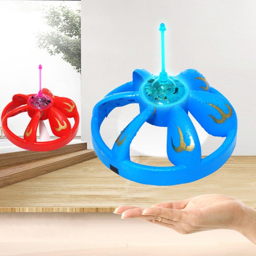 Elektrische Suspension Induktion UFO Fliegen Schweben Schwimmende Flug Elektrische UFO Mit LED Licht Outdoor Spielzeug Für Jungen Geschenke