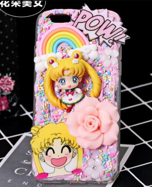 best sneakers 6aab1 c4d5e US $15.0 |Cute Character Sailor Moon 3D Kawaii Decoden Whipped Cream Phone  Case for samsung s8 case-in Rhinestone Cases from Cellphones & ...