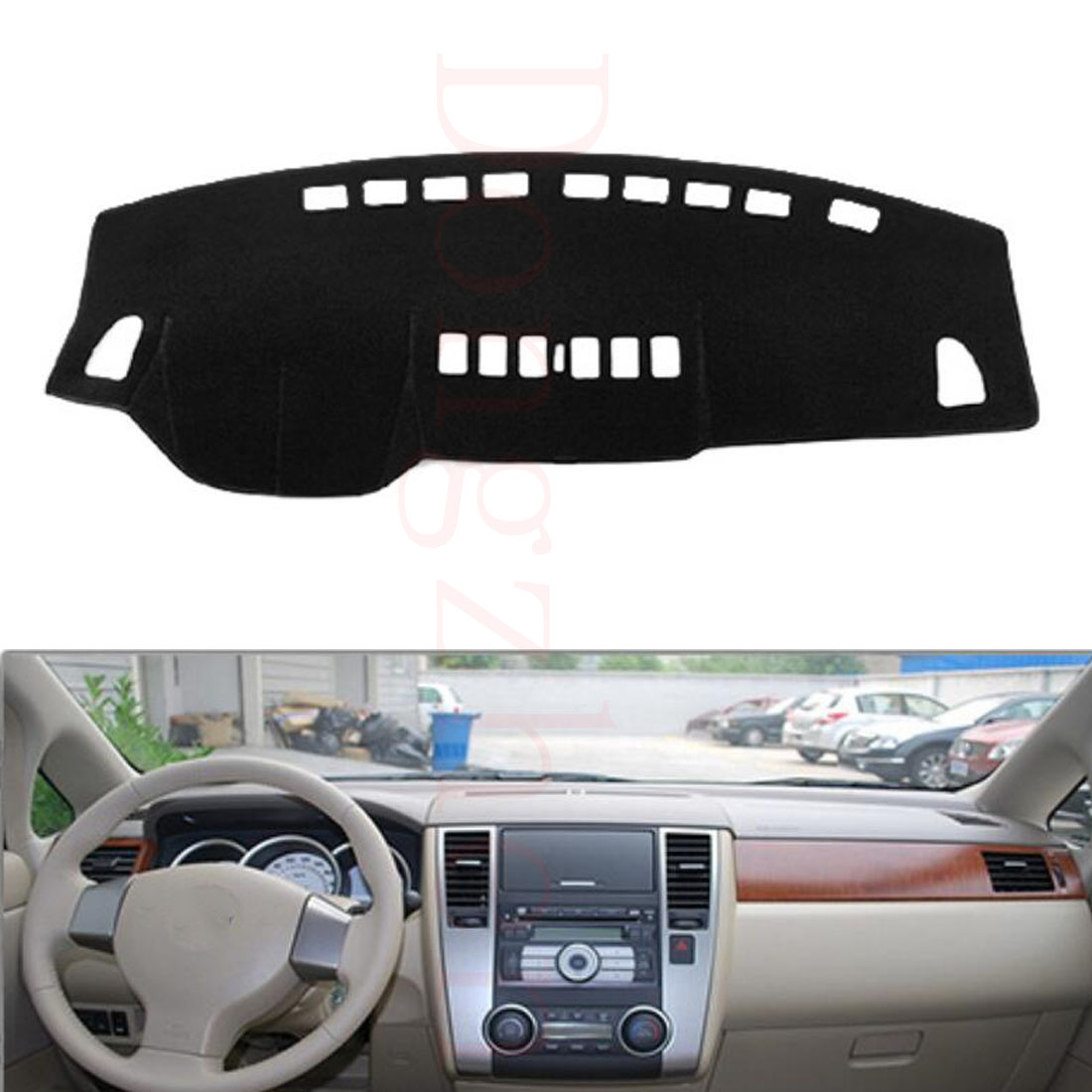 Dongzhen Fit For Nissan Tiida 2005 to 2010 Car Dashboard Cover Avoid Light Pad Instrument Platform Dash Board Cover ветровики prestige nissan tiida hb 04