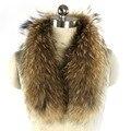 Real Raccoon Fur Collar 70 cm  Fashion Women 100% Genuine Natural Fur Collar Female Winter Temperament Fur Scarves  реальная енота меховой воротник