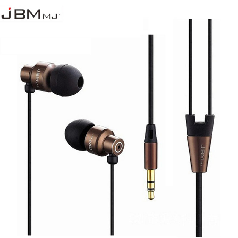 JBM MJ8600 Professional In-Ear Earphone for phone Stereo bass Earbuds wired headsets for samsung Xiaomi mi 6 for iphone ipad PC jbm a8 3 5mm in ear earphone w microphone for iphone samsung htc more deep pink black