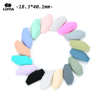 50pcs/lot Silicone Beads Salix Leaf Food Grade Baby Chew Loose Beads Nursing BPA Free High Quality Silicone Teether Necklace Toy