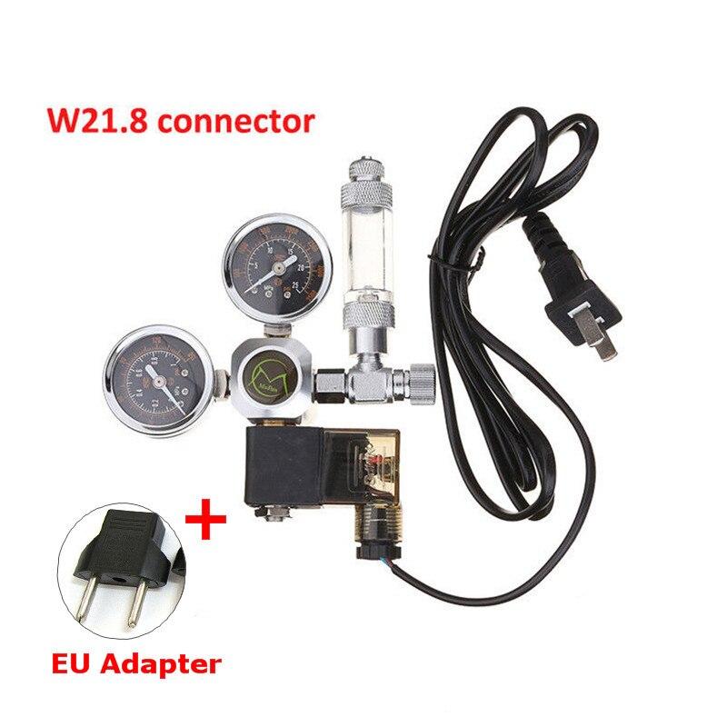 220 V Аквариум CO2 Регулятор электромагнитный клапан проверьте аквариумный клапан регулятор для аквариума W21.8 воды тихий фильтр-водопад для ак...
