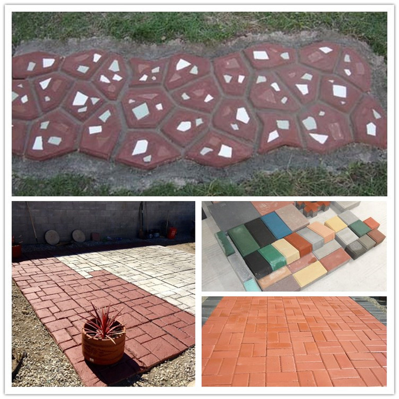 Personalized floor tile pavement toner cement additive color color tile paint cement floor plastic coloring in Paving Molds from Home Garden