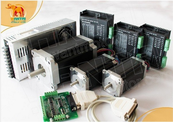 CNC 3 Axis Stepper Motors Dual Shaft 425oz-in&1600oz-in+Drivers DQ860MA+ DQ542MA of wantai for Engravings with competitive price engravings