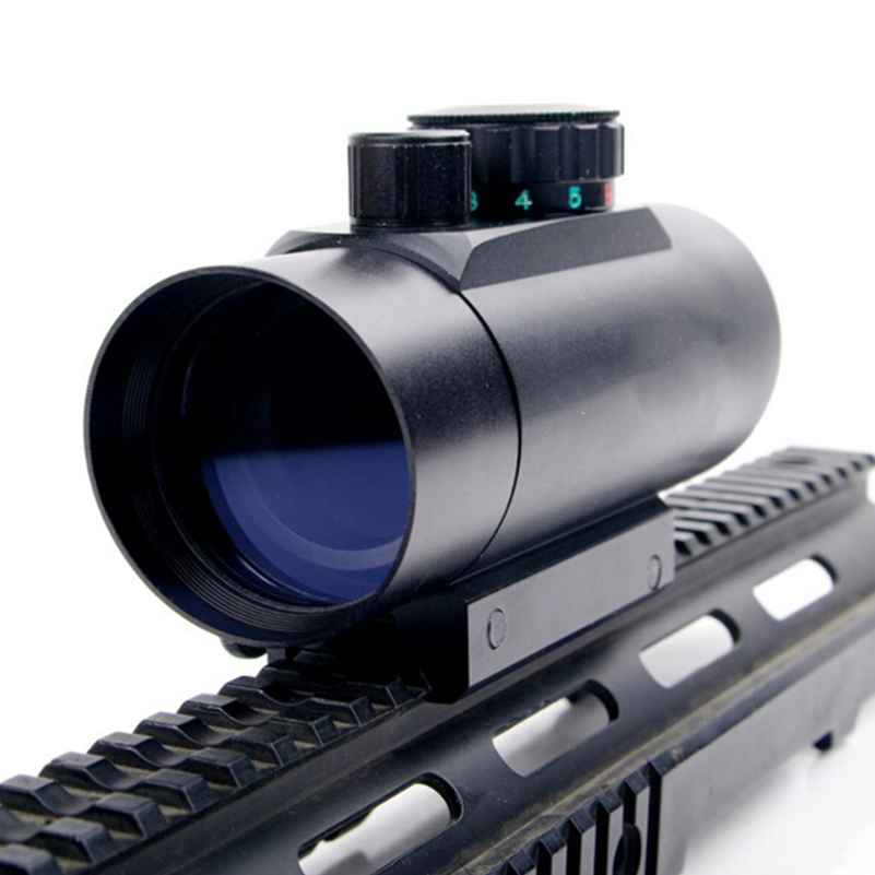 High Quality Waterproof 1X45 Red Green Dot Laser Sight Telescopic Reticle Reflex Scope With 20mm Rail Mount for Hunting E 1 30 reflex laser sight rifle scope red green laser configurable