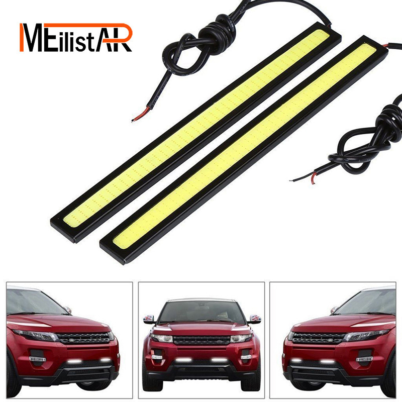 Car styling 1Pcs Car led Ultra Bright LED Daytime Running lights DC 12V 14cm 100% Waterproof Auto Car DRL COB Driving Fog lamp suprer bright 2pcs 30cm 12v daytime running lights waterproof car drl cob driving fog lamp flexible led strip car styling