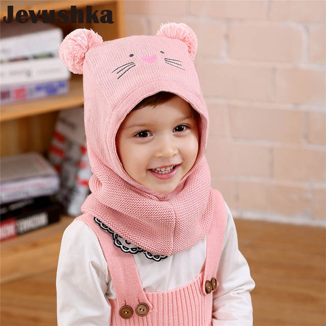 95c45464 Online Shop Winter Warm Knit Baby Girls and Boys Pompom Hat with Warm Fleece  Lining Cute Bear Ears Hats for Kids Beanie Gorro | Aliexpress Mobile