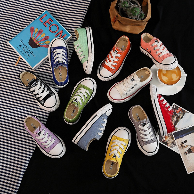 2019Canvas Children Shoes Sport Breathable Boys Sneakers Girls Kids Shoes Colorful Casual Child Flat Canvas Student Shoe SH19078