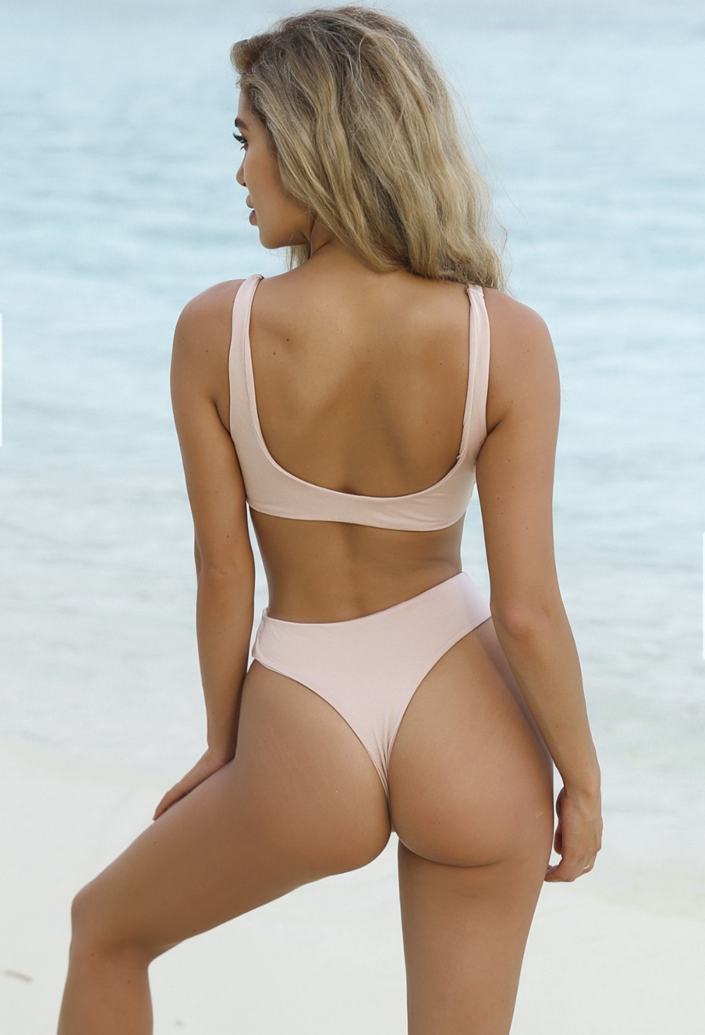 HTB1spLlRVXXXXb.XXXXq6xXFXXXV - Summer sexy Beach Bikini Double wrapped chest Women Beach swimsuit Underwear Bra sets JKP388