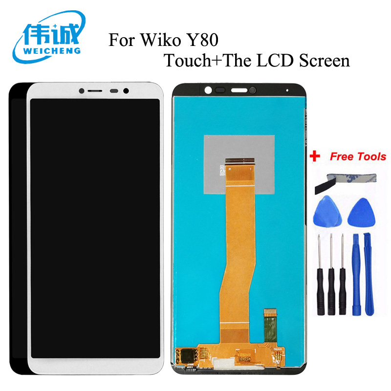 Lcd-Display Touch-Screen Wiko Digitizer-Assembly WEICHENG for Y80 with Free-Tools title=