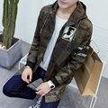 Japão Estilo de Outono Homens Jaqueta Com Capuz 2016 Novo Plus Size Camuflagem Mens Longo Casaco de Venda Quente à prova de Vento Ocasional Outwear Blusão