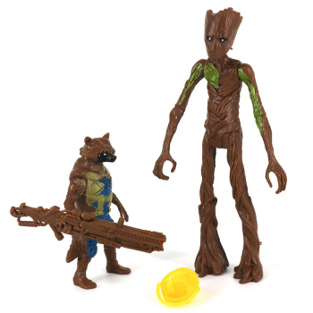 Rocket Raccoon and Groot Basic Action Figures The Avengers Endgame