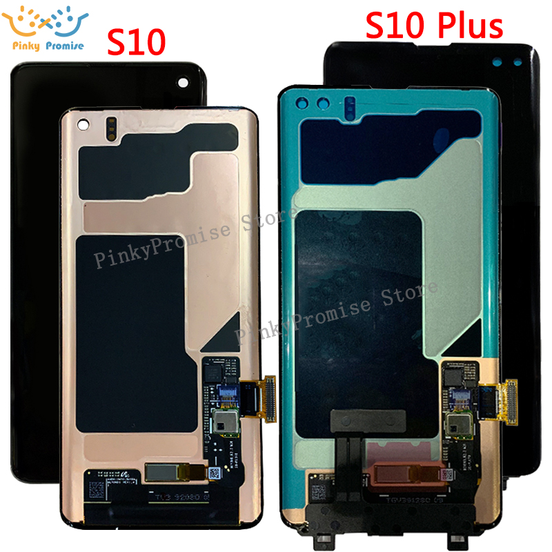 Black 6 1 AMOLED LCD for SAMSUNG S10 LCD G9730 Display SM G973 Touch Screen Digitizer