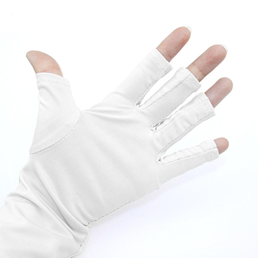 1 Para Nagel Handschuhe Neue Nail Art Maniküre Anti Uv Handschuh Für Uv Licht Lampe Radiatio 2m0823 Modische Muster