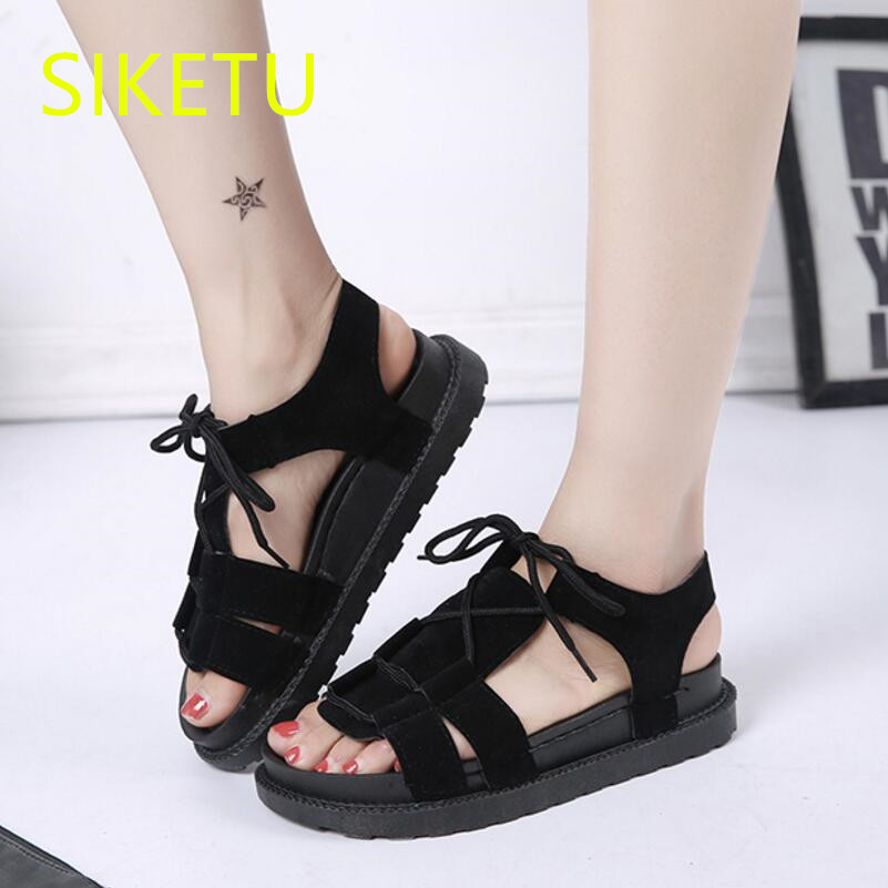 SIKETU Free shipping Summer sandals Fashion casual shoes sex women shoes flip flop Flat shoes Flats l006 Rome