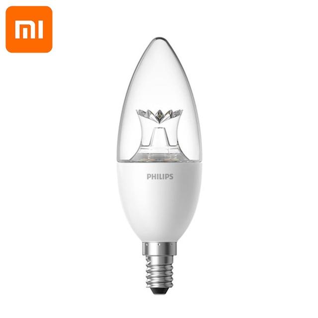 Original Xiaomi lámpara LED inteligente Wifi Control remoto por mi aplicación para hogares E14 bombilla de 3,5 W 0.1A 220 240V 50/60Hz 250 ml/200 ml inteligente kit de casa
