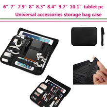 6″7″7.9″8.3″8.4″8.9″9.7″10.1″ Inch Tablet case sleeve Travel Cable Organizer storage Handle for Electronic Accessories Wrap bag