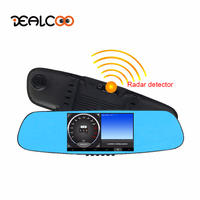 Dealcoo 5 Car DVR Digital Video Recorder 3 In 1 1080p HD Radar Detector Dual Lens