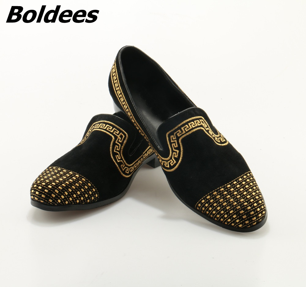 купить Boldees Men Loafers Fashion Suede Wedding Dress Shoes Party Banquet Italian Smoking Slippers Mens Flats Slip On Plus Size 12 по цене 6218.37 рублей