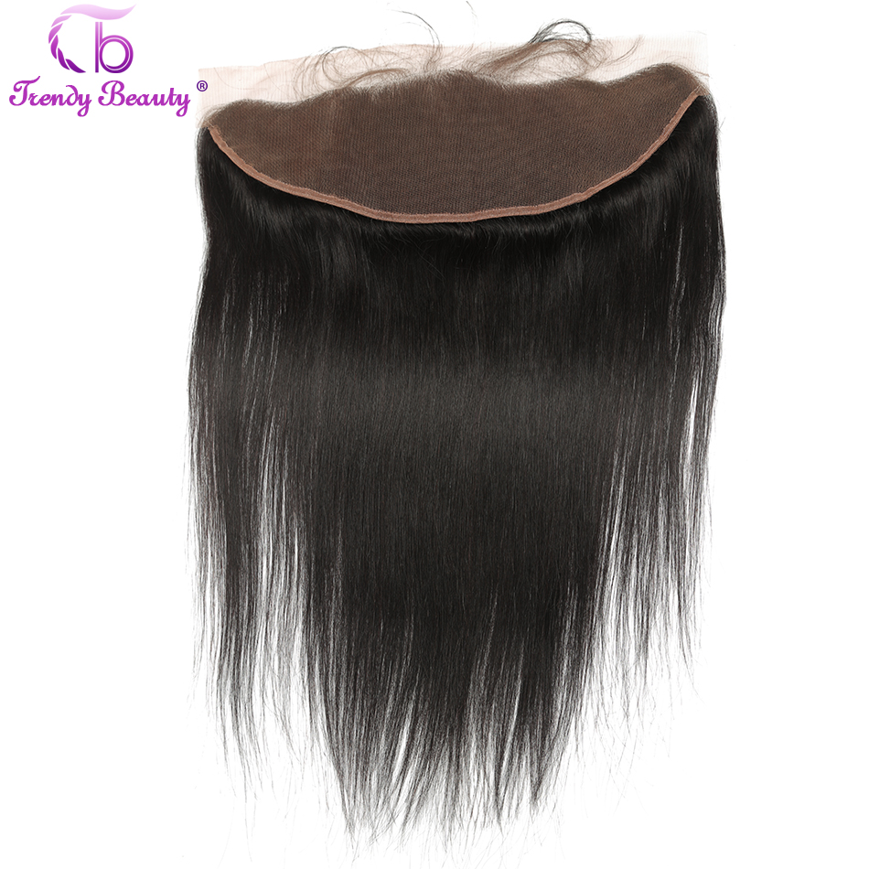 Trendy Beauty Lace Frontal Closure 13×4 Free Part Straight Brazilian Human Hair Ear to Ear Lace Closure Frontal Remy-Hair