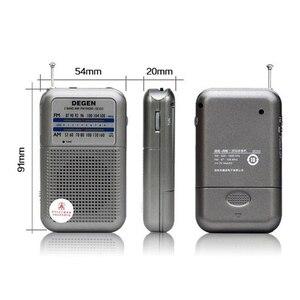 Image 5 - راديو DE333 من JINSERTA جهاز استقبال FM AM مع مقبض صغير بحجم الجيب قابل للحمل مع شريطين راديو إف إم مسجل راديو عالي الحساسية