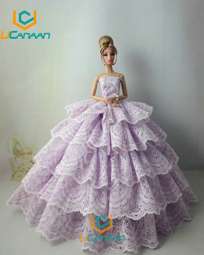Not Comprise the Doll Ucanaan 1 PC Dream Wedding ceremony Social gathering Gown For Barbie Doll Restricted Assortment Elegant Handmade Gown Present DIY