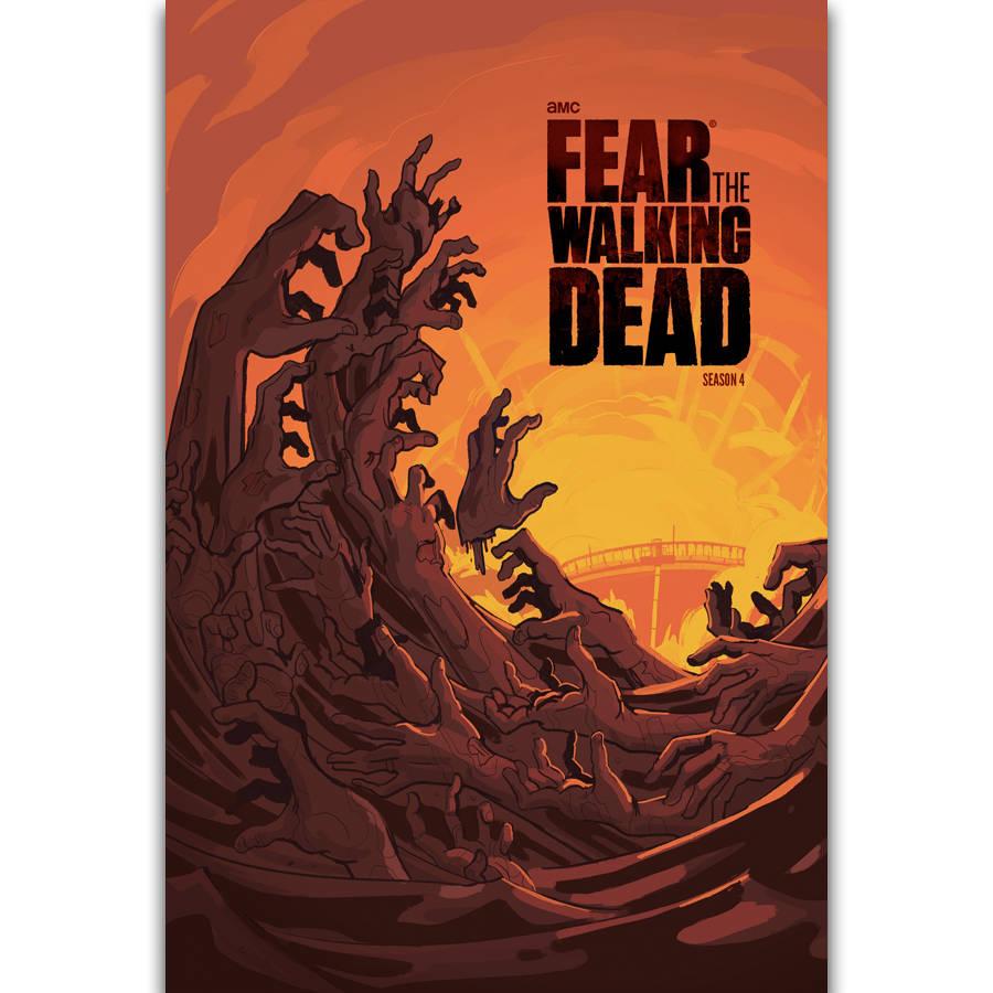 TV SHOW Art Silk Poster 12x18 24x36 THE WALKING DEAD