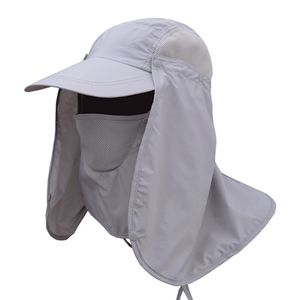 1pc Outdoor Sports Hiking Visor Hat UV Protection Face Neck Cover Fishing Sun Protect Cap Outdoor Protective Hat(China)