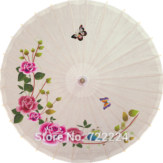 Dia 50cm Chinese small handmade traditional flower vine with butterfly parasol <font><b>for</b></font> child dance decoration oiled paper <font><b>umbrella</b></font>