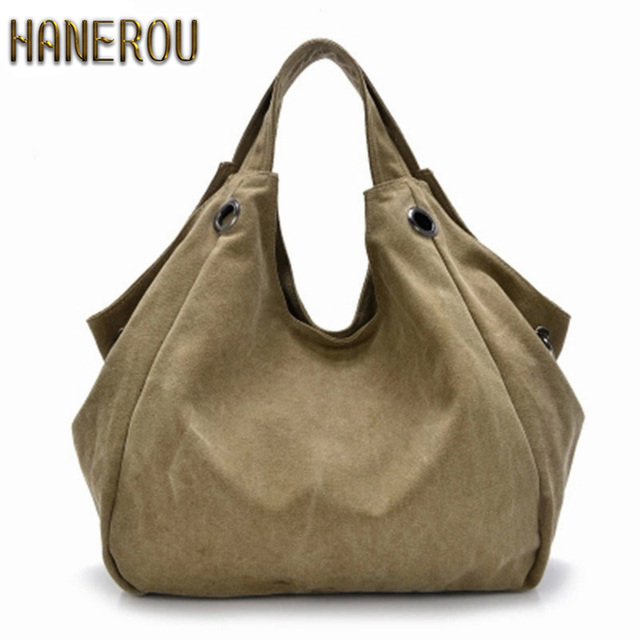 Luxury Handbags New Fashion Canvas Women Bag Large High Quality Hobo Messenger Bags Famous Top-Handle Bags 2016 Brand Ladies Sac