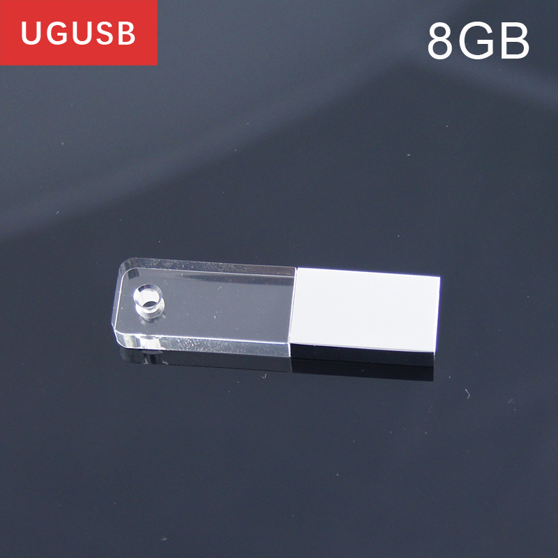 hot sale mini acrylic crystal transparent led light usb flash drive pen drive usb memory stick. Black Bedroom Furniture Sets. Home Design Ideas