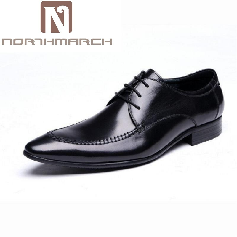 NORTHMARCH New Light Luxury Brand Men Derby Shoes Business Genuine Leather Mens Dress Shoes British style Men Shoes for WeddingNORTHMARCH New Light Luxury Brand Men Derby Shoes Business Genuine Leather Mens Dress Shoes British style Men Shoes for Wedding
