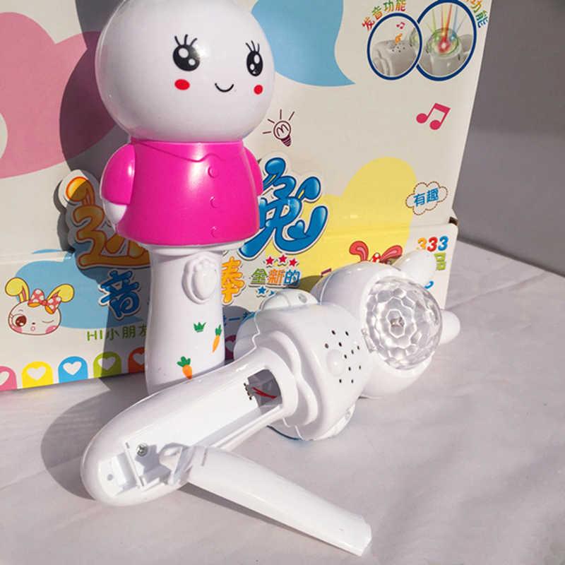Милый кролик музыкальная палочка детская китайская обучающая машина пазл для раннего развития игрушки для детей звук музыкальная игрушка Подарки