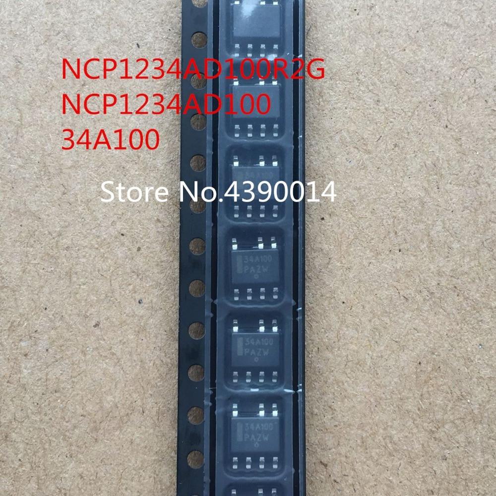 100pcs/lot NCP1234AD100R2G NCP1234AD100 34A100 SOP7 ld7576agr sop7