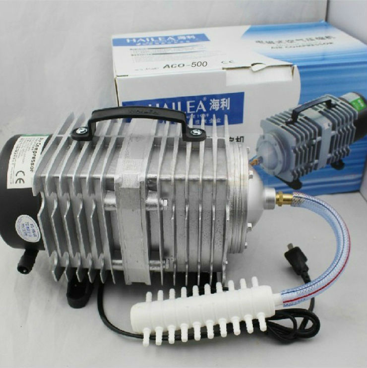 New 500W Hailea ACO-500 Electromagnetic Air Compressor For Aquarium Air Pump - AC Oxyen Air Pump For Fish Tank Fast Shipping
