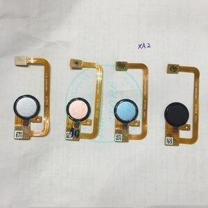 Image 1 - Pour Sony Xperia XA2 Scanner dempreintes digitales capteur tactile pour Xperia XA2 Scan bouton accueil câble flexible remplacement réparation pièces de rechange