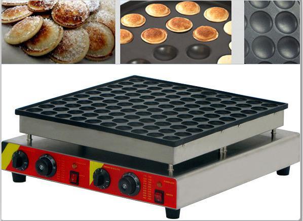 Frete Grátis 100 Pcs Uso Comercial 110 v 220 v Fabricante de Panquecas Holandesas Não-stick Poffertjes Máquina do Fabricante De Mini Waffle Padeiro