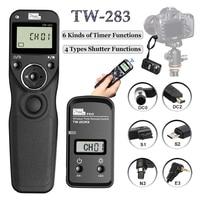 Pixel TW 283 Shutter Release Wireless Timer Remote Control For Canon 6D 5D Mark II 1100D Nikon D7000 D7200 D3100 Sony A6000 A7