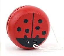 Rouge mignon animal yo-yo jouets portant professionnel Yoyo jouets bois haute précision jeu accessoires spéciaux diabolo jonglage WYQ